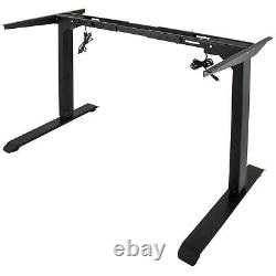 Electric Stand Up Desk Frame, withDual Motor Height Adjustable Standing Table Base