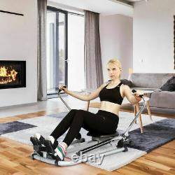 Exercise Rowing Machine Rower withAdjustable Double Hydraulic Resistance Home Gym