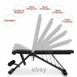 FLYBIRD Adjustable Weight Bench Incline Decline Foldable Full Body Workout Gym