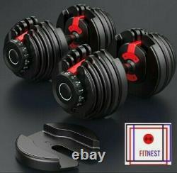FitNest 930s ADJUSTABLE DUMBBELLS (PAIR) 52.5 lbs