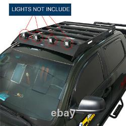 Fit Toyota Tundra 07-13 Crewmax Steel Roof Rack Luggage Carrier withLED Side Light