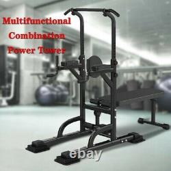 Folding Weight Bench withRack Adjustable Lifting Strength Gym Workout Home Station