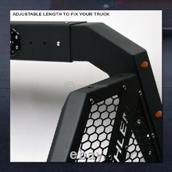 For Full Size Pickup Truck Adjustable Chase Rack Bar with3rd Brake Lamp+LED+Amber
