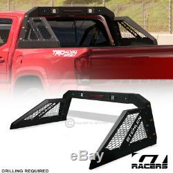 For Pickup Truck Adjusable Chase Rack Roll Bar With 3rd Brake Lamp+LED+Amber GEF