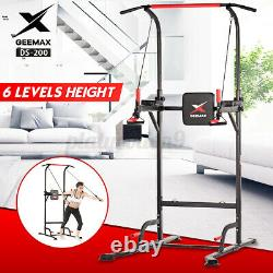 GEEMAX Power Tower Workout Dip Station Pull Up Dip Exercise Equipment Adjustable