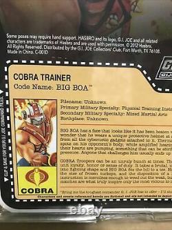 GI Joe Club Exclusive 2012 Cobra trainer Big Boa Action Figure New Sealed
