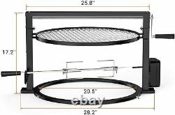 Grill Rotisserie System Adjustable Cooking Grate for Weber 22'' Kettle Grill