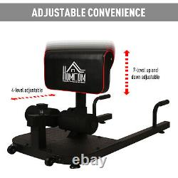 HOMCOM 3 IN 1 Squat Machine Sit Up Push Up Gym Work Out Leg Exercise Adjustable