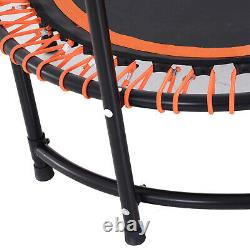 HOMCOM 45 Round Mini Trampoline Exercise Bungee Rebounder Adjustable Handle Bar