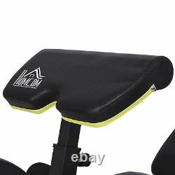 HOMCOM Sit-Up Dumbbell Weight Bench Adjustable Seat and Back Leg Extension
