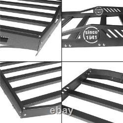 Half Rear Roof Rack Baggage Carrier For Jeep Wrangler JK 07-18 4Door Hard-Tops