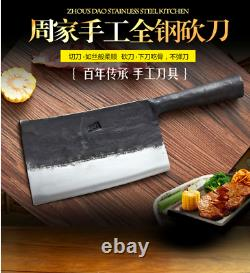 Handmade Forged Knife Carbon Steel Chinese Cleaver Chef Knives Kitchen Chop Bone
