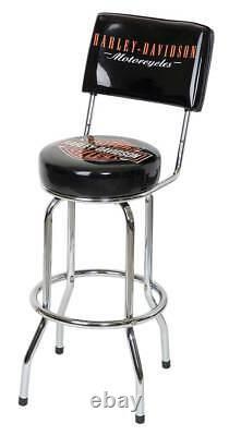 Harley-Davidson Bar & Shield Bar Stool With Back Rest HDL-12204