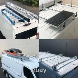 Heavy Duty 3 Bar ladder roof rack Fits Transit Cargo Van Low Roof (black)