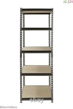 Heavy Duty Metal Muscle Rack Shelving Storage 48W x 24D x 72H Garage 5 Shelf