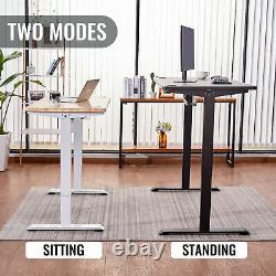 Height Adjustable Electric Standing Desk Frame for Home Office and More Black