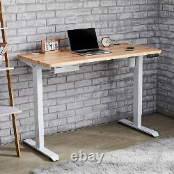 Height Adjustable Electric Standing Desk Frame for Home Office and More White