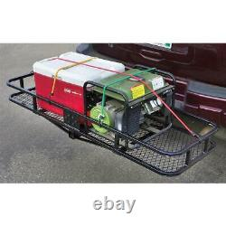 Hitch Mount Cargo Carrier Steel Basket Luggage 2 Receiver Rack Hauler 500 lbs