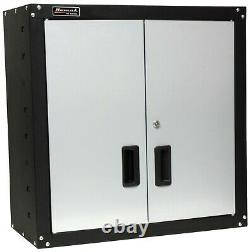 Homak Garage Wall Cabinet 2 Door Shelf Storage Unit Security Lock Shop Organizer