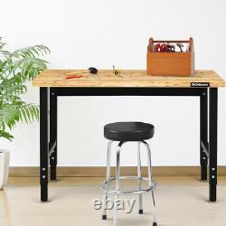 Ironmax 48 Adjustable Height Workbench Heavy-Duty Steel Frame Garage Work Table