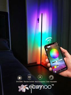 Jasmoo Modern RGB Lamp Minimalist LED Corner Floor Mood Lighting