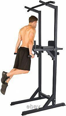 Koreyosh Adjustable Dip Station Chin Up Bar Power Tower Pull Push Home Gym