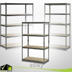 METAL HEAVY DUTY MUSCLE RACK Adjustable Steel Storage Units Shelves 4-5 Levels