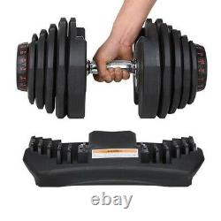 NEW Adjustable Dumbbell Dumbbells Weights 1090 Set Pair 90lbs TWO DUMBBELLS