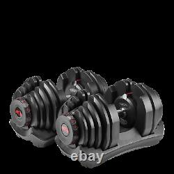 New Bowflex 1090 SelectTech adjustable Dumbbells Pair 10-90 LBS gym weight