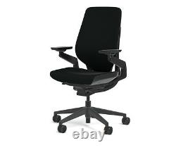New Steelcase Gesture Chair Adjustable Cogent Connect Shell Black Frame Licorice