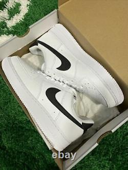 Nike Air Force 1'07 Low White Black Swoosh AF1 Size 7-15 CT2302-100 BRAND NEW