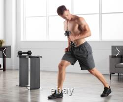 NordicTrack Speedweight Adjustable Dumbbell Set 2.5 to 12.5 Pounds 25 lb Total