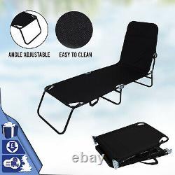 Outdoor Foldable Sun Lounger Recliner Bed Garden Beach Chair Relaxing Camping