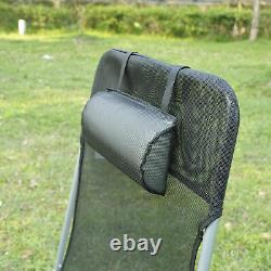 Outsunny 2PC Sun Lounger Folding Chaise Chair Indoor Outdoor Furniture with Pillow