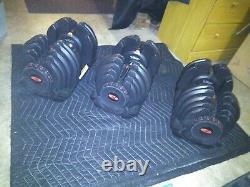 Pair of Bowflex 10-90 genuine Bowflex adjustable dumbbells