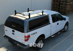 Pickup Truck Cap Topper 2 Bar Camper Shell Ladder Roof Van Rack Adjustable Steel