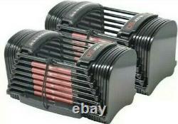 PowerBlock 50 Sport Adjustable Dumbbells Set Pair 10 50 LBSIN HAND SHIPS NOW