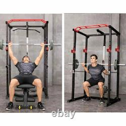 Power Cage Squat Rack Stands Gym Equipment 1000-Pound Capacity Exercise Olympic
