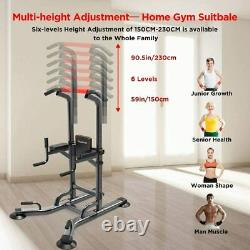 Pull Up Bar Power Tower Dip Station for Indoor Home Gym Core Fitness Equipment