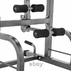 Pull Up Bar Power Tower Dip Station with Sit Up Bench for Indoor Home Gym Fitness