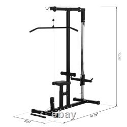 Pulldown Machine with Low Row Cable Multiple Postures Muscle Strengthening