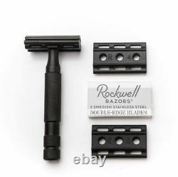 Rockwell Razors 6S PVD BLACK Adjustable Safety Double Edge Razor + 5 blades