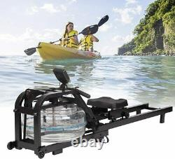 Rowing Machine Water Resistance Home Water Rower Adjustable LCD Monitor Quite