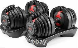 SelectTech 552 Two Adjustable Dumbbells PAIR FREE SHIPPING