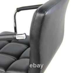 Set of 2 PU Leather Modern Swivel Bar Stool with Arm Adjustable Hydraulic Barstool