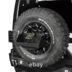 Spare Tire Jerry Can Holder Rack with Tall Tray For Jeep Wrangler TJ JK JL 97-20