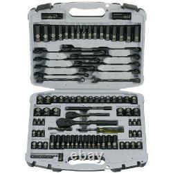 Stanley 99-Piece Quick-Release Anti-Corrosion Black Chrome Socket Set 92-839 New