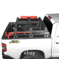 Steel Black High Bed Rack Top Luggage Baggage Carrier for Toyota Tundra 14-21