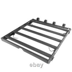 Steel Luggage Carrier Roof Rack withLED Light for Dodge Ram 1500 09-18 Crew Cab