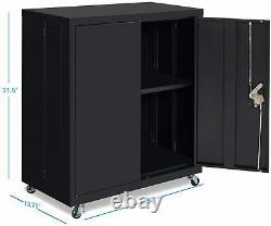 Steel Storage Cabinet Metal Storage File Cabinet with Adjustable Shelf Locking